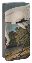 Whooping Crane Portable Battery Charger by John James Audubon