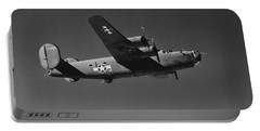 Wwii Us Aircraft In Flight Portable Battery Charger by American School