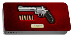 .44 Magnum Colt Anaconda On Red Velvet  Portable Battery Charger by Serge Averbukh