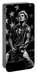 Bruce Springsteen Collection Portable Battery Charger by Marvin Blaine