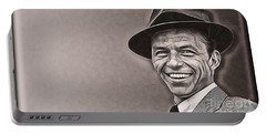 Frank Sinatra Collection Portable Battery Charger by Marvin Blaine