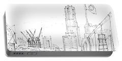5.2.japan-1-tokyo-skyline Portable Battery Charger by Charlie Szoradi