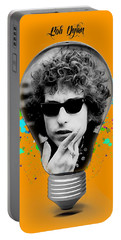 Bob Dylan Collection Portable Battery Charger by Marvin Blaine