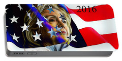 Hillary Clinton 2016 Collection Portable Battery Charger by Marvin Blaine