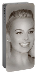 Hollywood Star Margot Robbie Portable Battery Charger by Best Actors