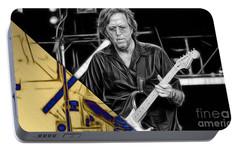 Eric Clapton Collection Portable Battery Charger by Marvin Blaine