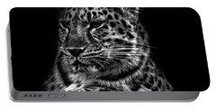 Amur Leopard Portable Battery Charger by Martin Newman