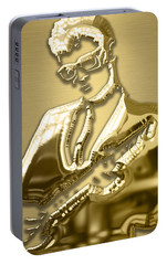 Buddy Holly Collection Portable Battery Charger by Marvin Blaine
