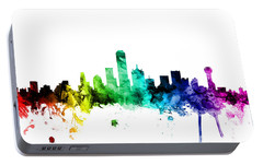 Dallas Texas Skyline Portable Battery Charger by Michael Tompsett