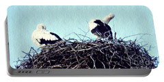 A Happy Stork Couple Portable Battery Charger by Sarah Loft
