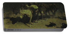A Pack Train Portable Battery Charger by Frederic Remington