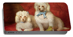 A Pair Of Poodles Portable Battery Charger by English School