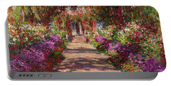 A Pathway In Monets Garden Giverny Portable Battery Charger by Claude Monet