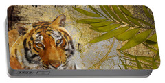 A Taste Of Africa Tiger Portable Battery Charger by Mindy Sommers