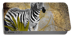 A Taste Of Africa Zebra Portable Battery Charger by Mindy Sommers