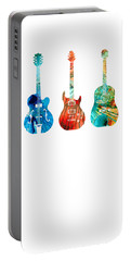 Abstract Guitars By Sharon Cummings Portable Battery Charger by Sharon Cummings