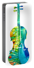 Abstract Violin Art By Sharon Cummings Portable Battery Charger by Sharon Cummings