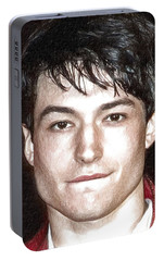 Actor And Musician Ezra Miller Portable Battery Charger by Best Actors