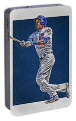 Addison Russell Chicago Cubs Art Portable Battery Charger by Joe Hamilton