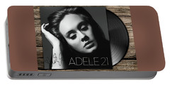 Adele 21 Art With Autograph Portable Battery Charger by Kjc