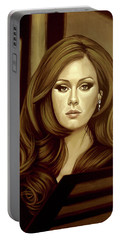 Adele Gold Portable Battery Charger by Paul Meijering