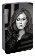 Adele Mixed Media Portable Battery Charger by Paul Meijering