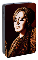 Adele Skyfall Gold Portable Battery Charger by Paul Meijering