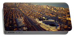 Aerial View Of A City, Old Comiskey Portable Battery Charger by Panoramic Images
