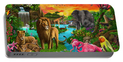 African Paradise Portable Battery Charger by Gerald Newton