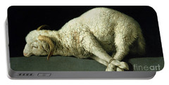 Agnus Dei Portable Battery Charger by Francisco de Zurbaran