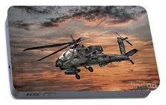 Ah-64 Apache Attack Helicopter Portable Battery Charger by Randy Steele