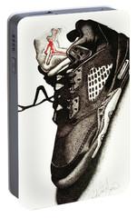 Air Jordan Portable Battery Charger by Robert Morin