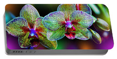 Alien Orchids Portable Battery Charger by Bill Tiepelman