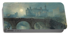 Alnwick Castle Portable Battery Charger by Joseph Mallord William Turner