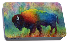 American Buffalo 6 Portable Battery Charger by Hailey E Herrera