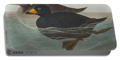 American Scoter Duck Portable Battery Charger by John James Audubon
