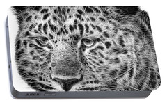 Amur Leopard Portable Battery Charger by John Edwards