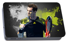 Andy Murray Portable Battery Charger by Semih Yurdabak