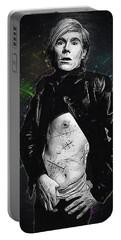 Andy Warhol Portable Battery Charger by Semih Yurdabak