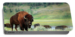 Angry Buffalo Portable Battery Charger by Todd Klassy