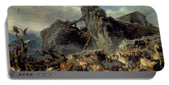 Animals Leaving The Ark, Mount Ararat  Portable Battery Charger by Filippo Palizzi