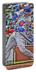 Anthony Rizzo Chicago Cubs Portable Battery Charger by Joe Hamilton