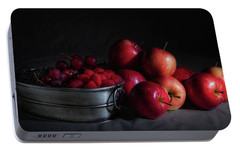 Apples And Berries Panoramic Portable Battery Charger by Tom Mc Nemar