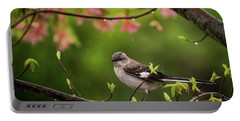 April Showers Bring May Flowers Mocking Bird Portable Battery Charger by Terry DeLuco