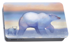 Arctic Bears, Journeys Bright Portable Battery Charger by Tracy Herrmann