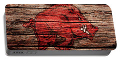 Arkansas Razorbacks 1a Portable Battery Charger by Brian Reaves