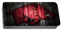 Arkansas Razorbacks 2a Portable Battery Charger by Brian Reaves