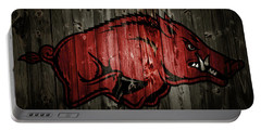 Arkansas Razorbacks 2b Portable Battery Charger by Brian Reaves