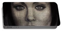 Art In The News 72-adele 25 Portable Battery Charger by Michael Cross