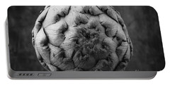 Artichoke Black And White Still Life Two Portable Battery Charger by Edward Fielding